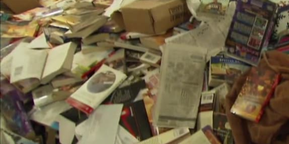 chaotic piles in the attic